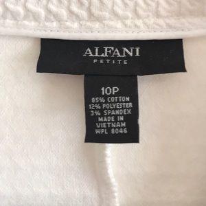 Alfani Jackets & Coats - Alfani Petite White 3/4 Sleeve Jacket